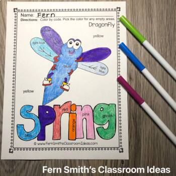 Color By Code Spring Bug Fun Colors and Numbers Bundle