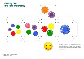 Colors and Numbers: Fun Dices and Games for Toddlers and Preschoolers