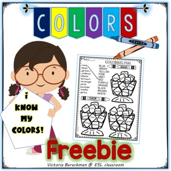 Freebie/- SAMPLE - Colors and Numbers( including-gray/grey ) /