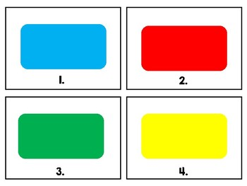 Colors and Numbers Sight Word Task Cards