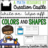 Colors and Shapes Write on... Wipe Off.. Centers