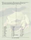 Colors and Shapes Alphabetical Order I Spanish Worksheet