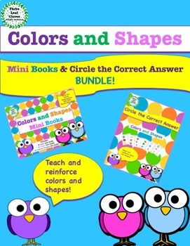 Colors and Shapes Mini Books and Activities BUNDLE