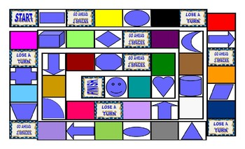 Colors and Shapes Legal Size Photo Board Game
