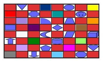 Colors and Shapes Checker Board Game