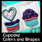 Colors and Shapes Cupcakes Playdough Mats