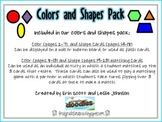 Colors and Shapes Pack