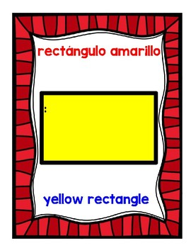 Colors and Shapes Posters Formas y Colores Carteles Dual Language Resource