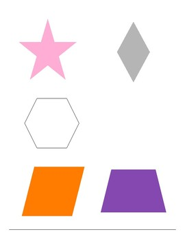 Colors and Shapes Skills Check/Assessment