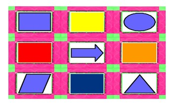 Colors and Shapes Spanish Legal Size Photo Card Game