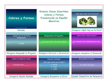 Colors and Shapes Spanish PowerPoint Presentation