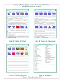 Colors and Shapes Spanish Reading-Conversation-Writing Worksheets