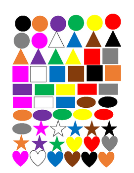 Colors and Shapes Spot the Match game