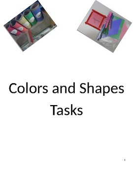 Colors and Shapes Tasks