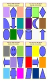 Colors and Shapes Legal Size Photo Tic-Tac-Toe or Bingo Card Game