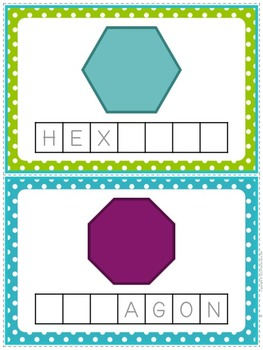 Shapes and Colors Word Building Pack {Including Positional Words!}