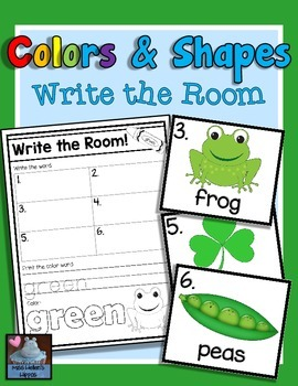 Colors and Shapes Write the Room