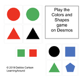 Colors and Shapes game for Desmos
