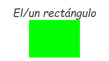Colors and Shapes with Articles in Spanish