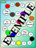 Colors and numbers board game