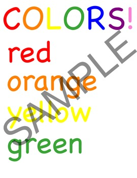 Colors and/or Shapes wall decor, interactive bulletin board