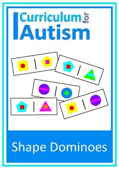 Colors & Shapes Dominoes Matching Game, Autism, Special Education