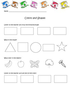 Colors and shapes quiz