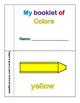 Colors booklet