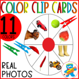 11 Colors clip Cards. Easy to prep, ready to print. Prek, K and Sped. Hands-on