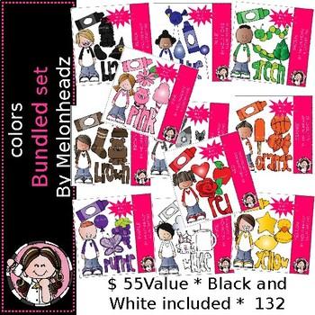 Colors clip art  - Bundled Set - by Melonheadz