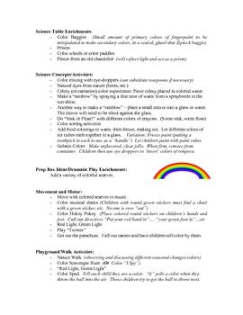 Colors curriculum unit