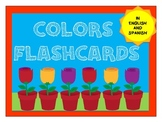 Colors flashcards - english and spanish.