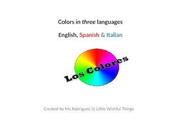 Colors in 3 languages