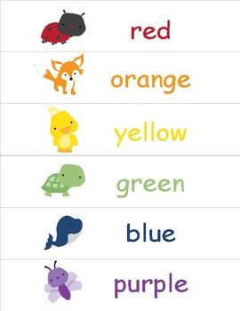 Colors in English ~ Classroom Display