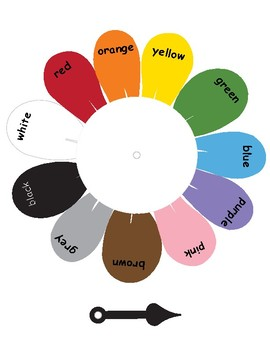 Colors in English ~ Color Spinner ~ Printable