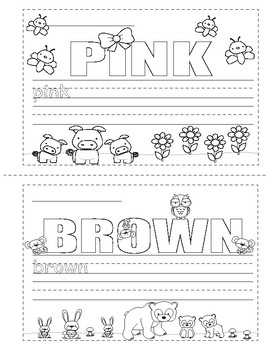 Colors in English ~ Mini Booklet ~ Coloring