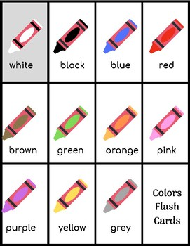 Colors in English for Kindergarten and 1st. Grade
