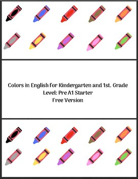Colors in English for Kindergarten and 1st. Grade - Free version
