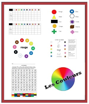 Colors in French-9 Activities (40 Pages + 30-Slide Powerpoint)