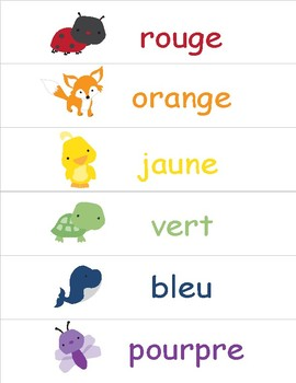 Colors in French ~ Les Couleurs ~ Classroom Display