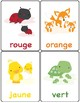 Colors in French ~ Les Couleurs ~ Flash Cards ~ Match Up Game