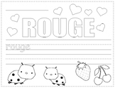 Colors in French ~ Les Couleurs ~ Worksheets
