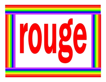 Couleurs (Colors in French) Posters