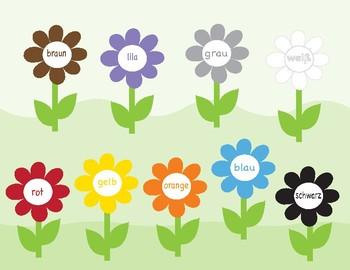 Colors in German ~ Die Farben ~ Bingo Game