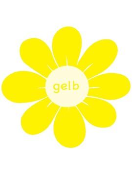 Colors in German ~ Die Farben ~ Classroom Display ~ Flowers