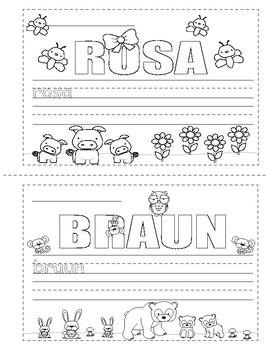 Colors in German ~ Die Farben ~ Mini Booklet ~ Coloring