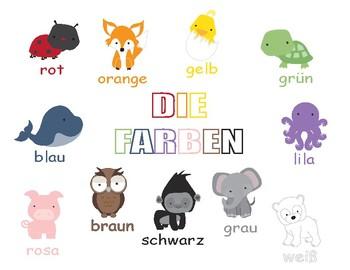 Colors in German ~ Die Farben ~ Worksheets