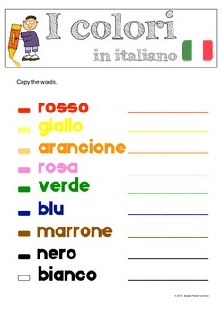 Colours in Italian / Colori in Italiano