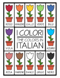 Colors in Italian -  Flower Printables (High Resolution)