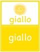 Flash Cards ~ Colors in Italian ~ i colori